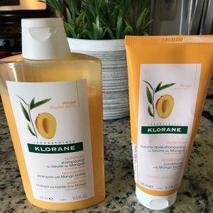 Klorane Mango Shampoo and Conditioner